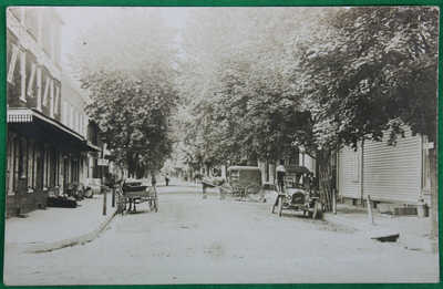 Original ca 1909 Church St. Allentown NJ Real Photo Postcard Buick