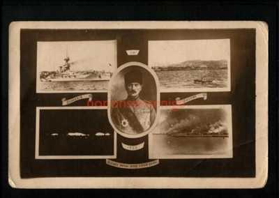 TURKEY SMYRNE SOUVENIR SCENES FROM H.M.S. IRON DUKE REAL PHOTO PC 1922 - 141