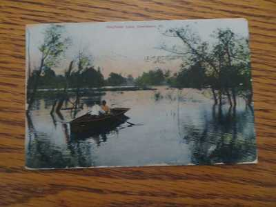 KINGFISHER LAKE  1907 Owensboro  Kentucky Postcard