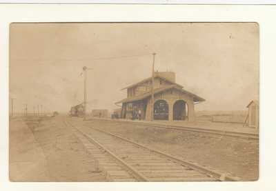 RPPC ATCHISON TOPEAKA & SANTA FE RAILROAD DEPOT in FT SUMNER NM DeBACA COUNTY