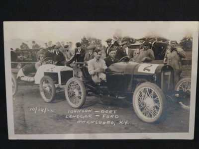 1922  ROAD RACE / RALLY  Owensboro Ky Postcard