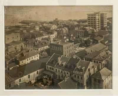 Antique Black/White Photograph of Charleston, SC - View from St Philips Steeple