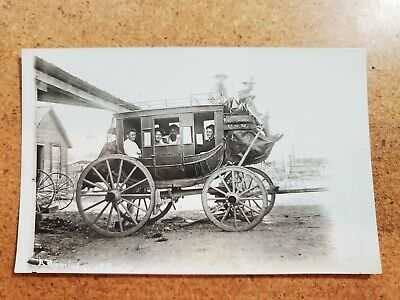 Ione Amador Heindel Photo Post Card U.S Mail Stage Coach RPPC A Reminder of Cal.