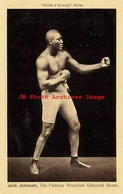 Black Americana, Health & Strength Series, Boxer Jack Johnson, Boxing