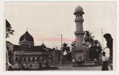 MALAYA PENANG MOSQUE VINTAGE POSTCARD SIZE PHOTOGRAPH 1930s - 13