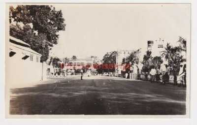 MALAYA PENANG UNLOCATED STREET SCENE VINTAGE POSTCARD SIZE PHOTOGRAPH 1930s - 14