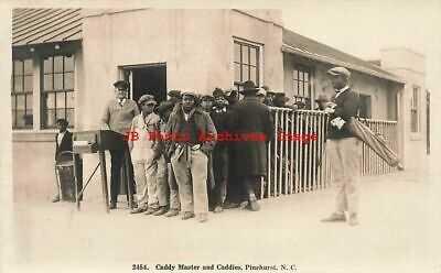 Black Americana, RPPC, Golf Caddy Master & Caddies, Golfing, Pinehurst NC