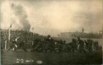 RPPC ~ UNIVERSITY ILLINOIS  1900S ~ FIGHTING ILLINI  COLLEGE  FOOTBALL GAME 30D