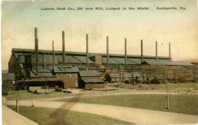 1923 COATESVILLE PA LUKENS STEEL CO 204 INCH MILL WORLD CHESTER COUNTY POSTCARD