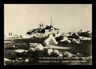 DR JIM STAMPS ANTARCTIC EXPEDITION M S NORSEL CONTINENTAL POSTCARD NORWAY RPPC