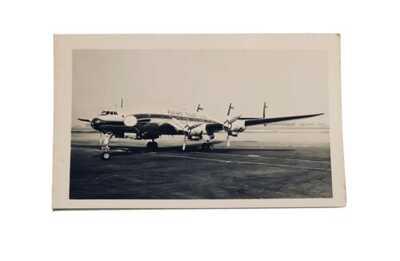Lockheed Constellation Flying Tiger Line Vintage Real photo postcard RPPC