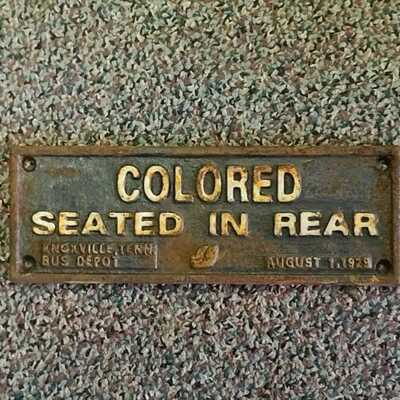 black Americana colored plaque