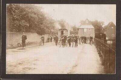 Cobham. German Gypsies Escorted Through Village by Policemen. Smashing RP.