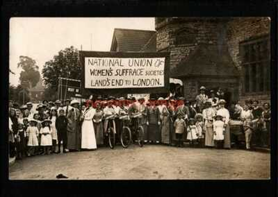 SUFFRAGETTES LAND'S END to LONDON NATIONAL UNION WOMEN'S SUFFRAGE SOCIETIES 1916