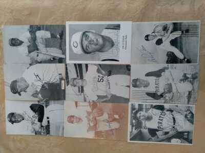 9 autographed baseball postcards from the 60's. Willie Mays, Sandy Koufax,...