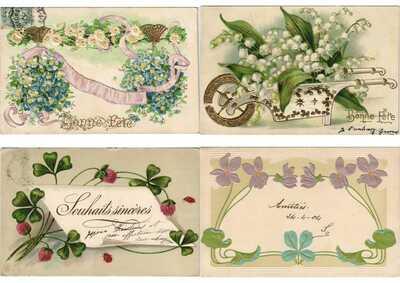 EMBOSSED GREETINGS FANTASY 500 Vintage Postcards pre-1930 (PART VI.)(L3105)