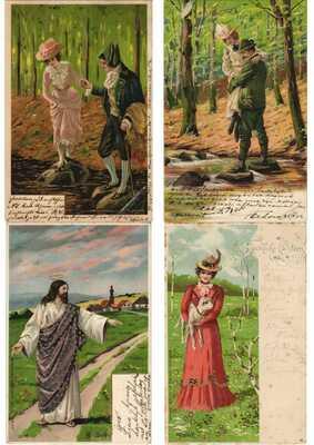 MAILICK ARTIST SIGNED GLAMOUR LITHO 50 Vintage Postcards Pre-1940 (L3229)