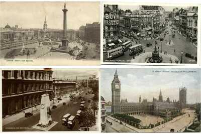 LONDON CITY GREAT BRITAIN U.K. 1000 Vintage Postcards Pre-1950 (L3397)
