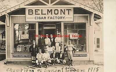MA, Belmont, Mass., RPPC, Belmont Cigar Factory Sunset League Baseball Champions