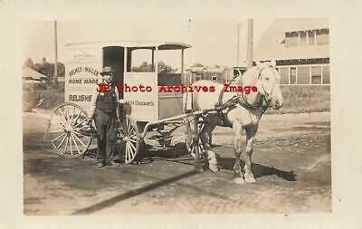 CA, Los Angeles, California, RPPC, Holmes & Miller Horse Drawn Advertising Wagon