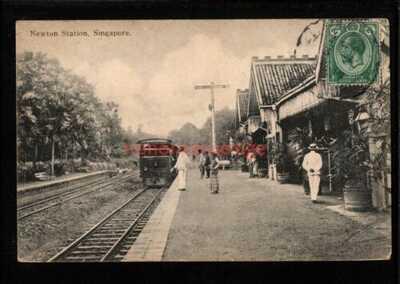SINGAPORE NEWTON RAILWAY STATION GARE BAHNHOF Kong Hing Chiong PC 1919 - S301