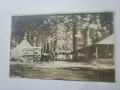 Camp Curry Banner Yosemite Mariposa California Wagon Tent Photo Post Card RPPC
