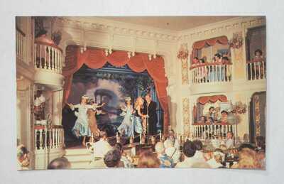 Rare 1955 Disneyland Jumbo Postcard - Interior Golden Horseshoe, P15287 - M-NM