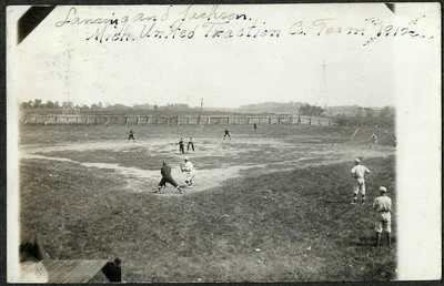 Jackson Michigan United Traction vs Lansing Baseball Game 1912 RPPC Postcard