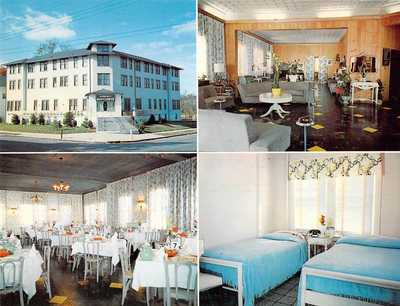 postcard BIG 5.5x7 MAYFLOWER HOTEL - Int & Ext - Lakewood NJ