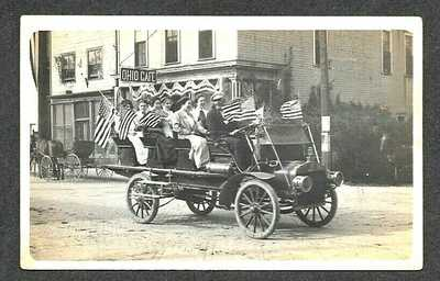 DOWAGIAC AUTO TRUCK at SUFFRAGETTE PARADE, DOWAGIAC MICHIGAN RPPC 1912 Postcard