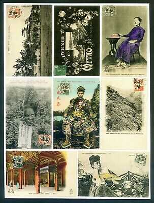 *A coll of postcard with Indochina Native girls or French PO in China, 24pcs
