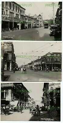 OLD POSTCARDS HIGH ST NORTH BRIDGE RD & TRENGGANU ST SINGAPORE REAL PHOTOS 1920S