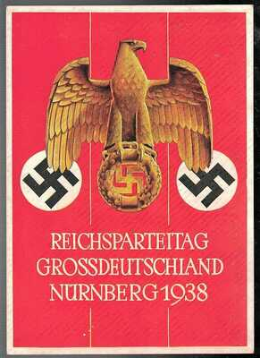 1938 REICHSPARTEITAG REICH PARTY CONVENTION NURNBERG COMMEMORATIVE CANCEL #3 PC