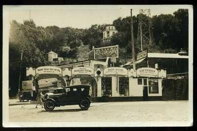 1929 Holy City Sex Cult Gas Station Santa Clara County Santa Cruz RPPC Postcard