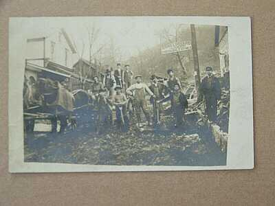 Point Marion Pennsylvania PA Greene Dilliner Dora Lockard Livery RPPC Photo RARE