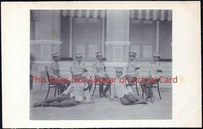Siam - Bankok Commandant & Instructors Royal Military College 1912 RP