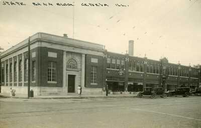 RPPC state bank geneva illinois postcard