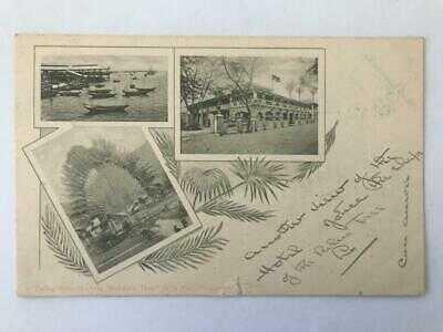 1905 Postcard Multi View Singapore with Postmark