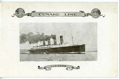Cunard Line's LUSITANIA of 1907 - Log Abstract from January,1915 - see notes!