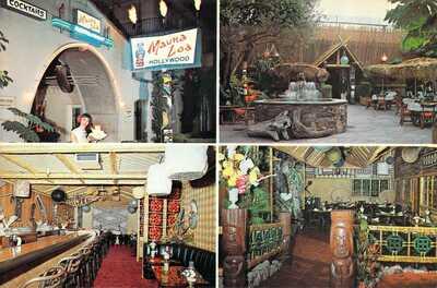 1963 CA Hollywood MAUNA LOA Tiki Tikki Restaurant Polynesian MINT 6x9 postcard
